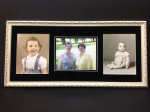 Don't lose your old photos full of great memories!  Frame them!  See us for great ideas.
