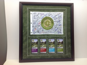 Custom framed Golf Flag and Tickets from this years Senior Open in Omaha, Nebraska