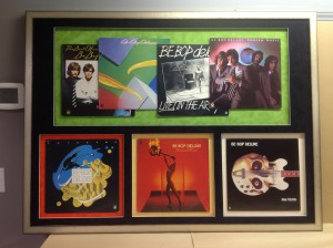 7 Album Covers custom framed of the band Be-Bop