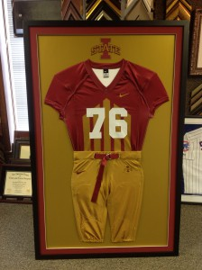 Thanks to all the Iowa State fans out there!  We are in the process of framing our 4th throwback jersey.