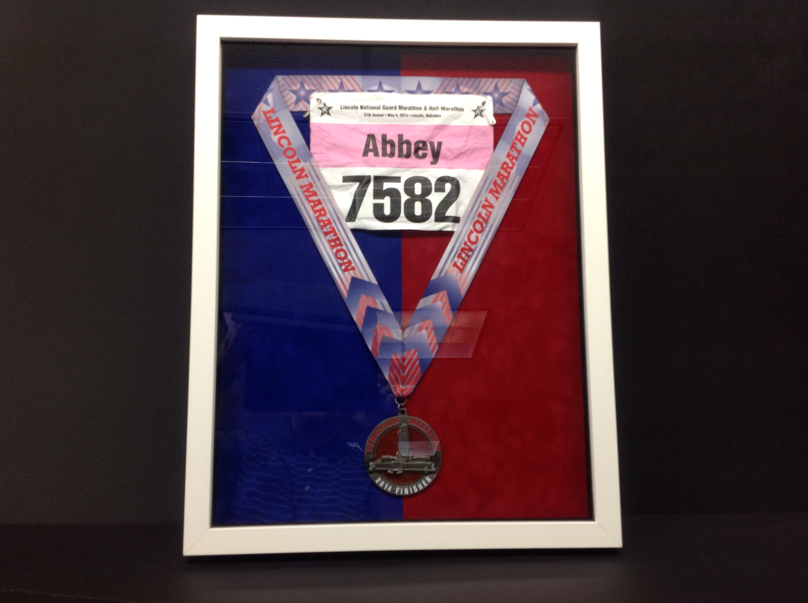 FRAME YOUR RACE MEDALS OR RACING BIBS