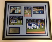 KANSAS CITY ROYALS PHOTO COLLAGE AND PLATE FRAMED – GREAT GIFT IDEA