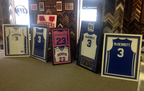 A Room Full of Custom Framed Jerseys