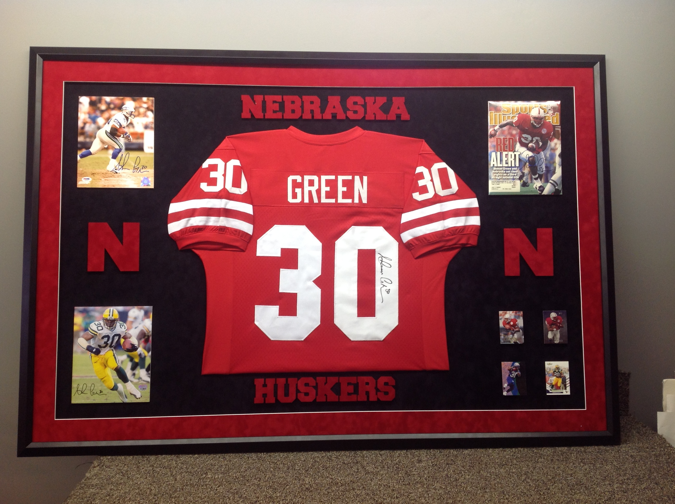 Jersey custom framing bc custom framing custom framed jersey with cut out letters spiritdancerdesigns Images