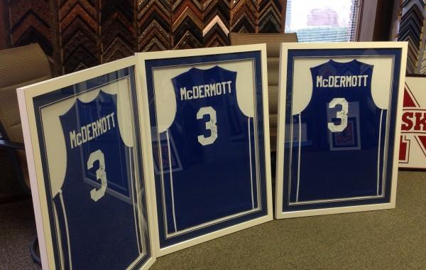 Custom Framed McDermott Jerseys