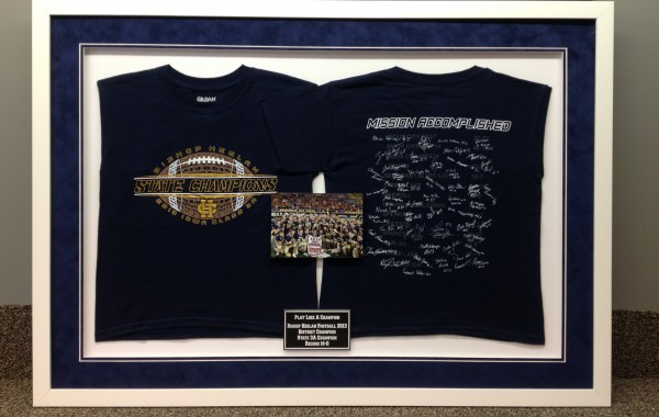 Front and Back T-Shirts Framed