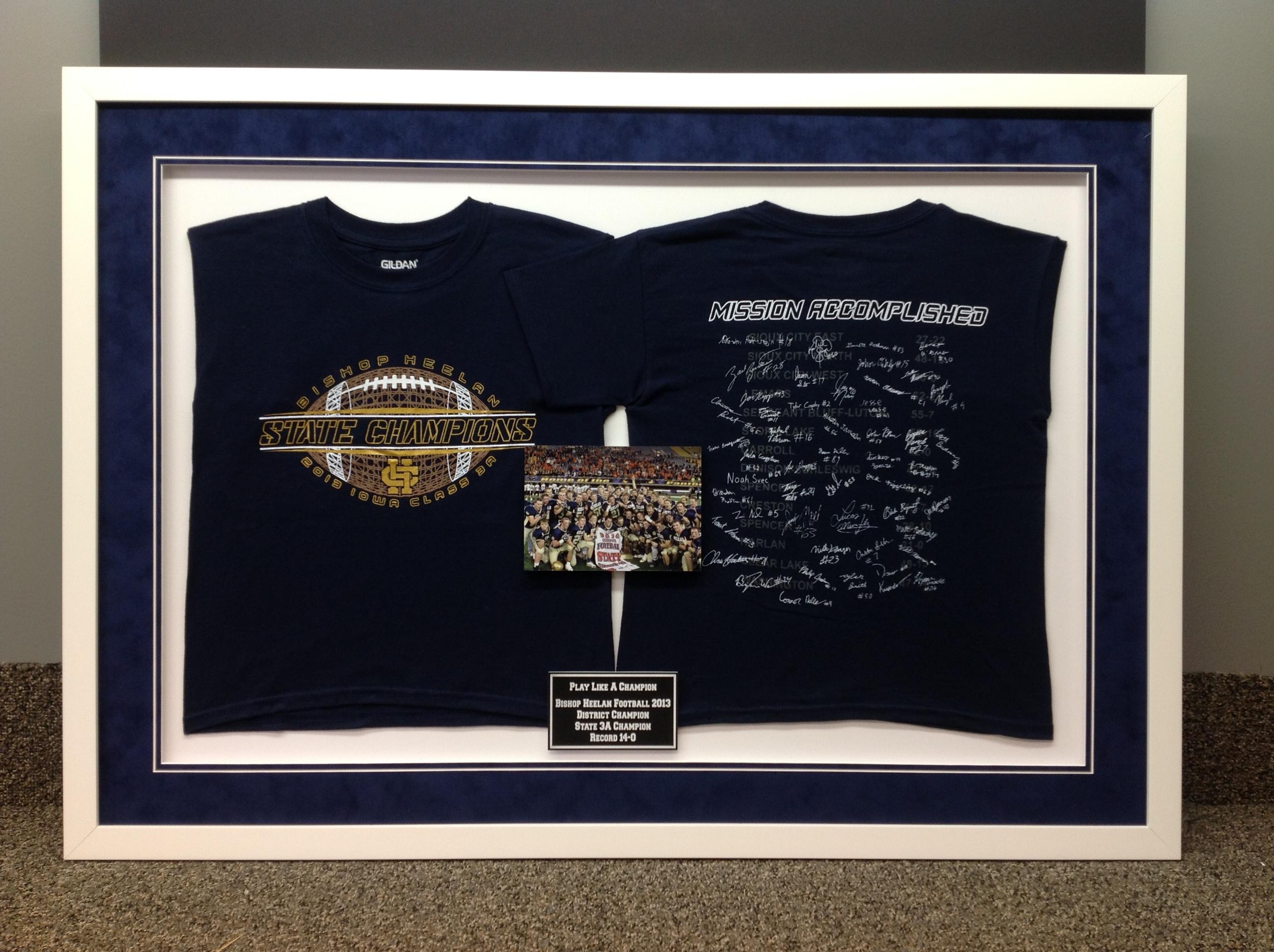 Jersey custom framing b c custom framing for Custom photo t shirts front and back