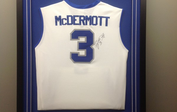 Jersey Framed with Logo and Custom Plate