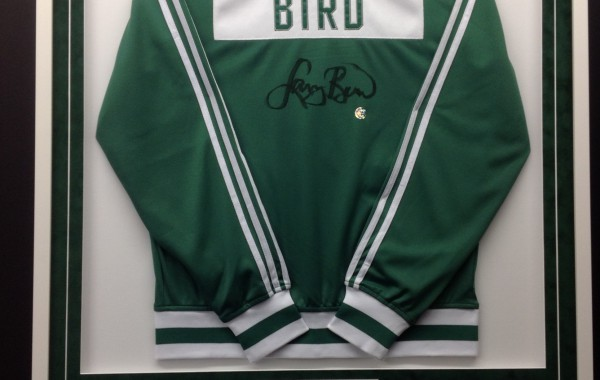 Larry Bird Custom Framed Jersey