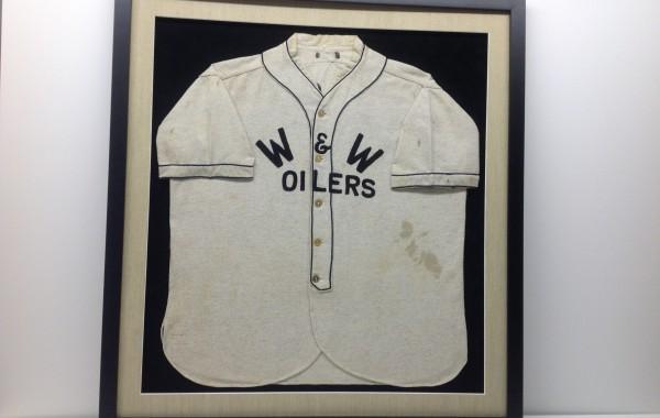 Old Custom Framed Baseball Jersey