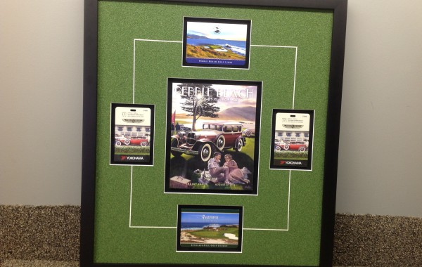Pebble Beach Collage Framed