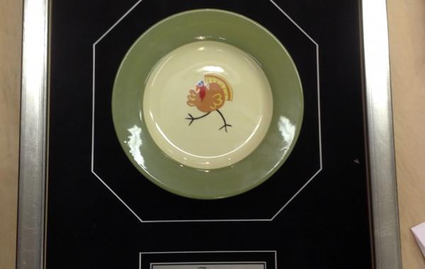 Plate Custom Framed