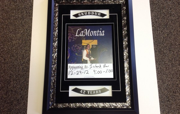 Poster with Custom Plates Framed