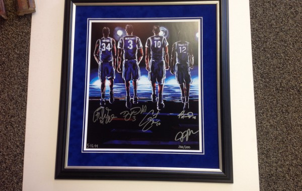 Signed Creighton Bluejay Print Framed
