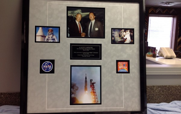 Space Program Items Framed