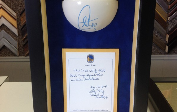 Mini Basketball Signed by Stephen Curry