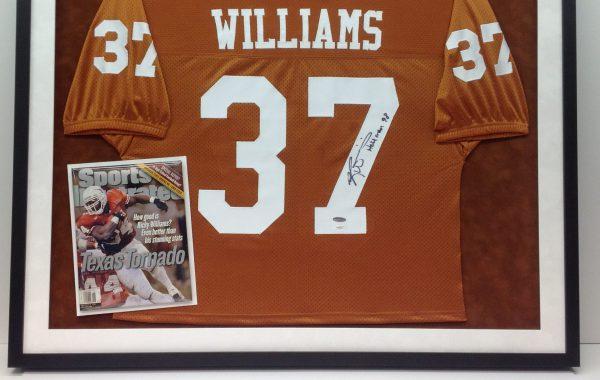 Ricky Williams Framed Jersey