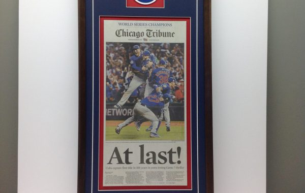Chicago Tribune Newspaper Framed