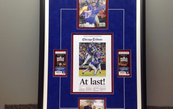 Chicago Cubs Framed Collage