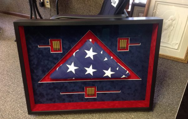 Memorial Flag with Bullets