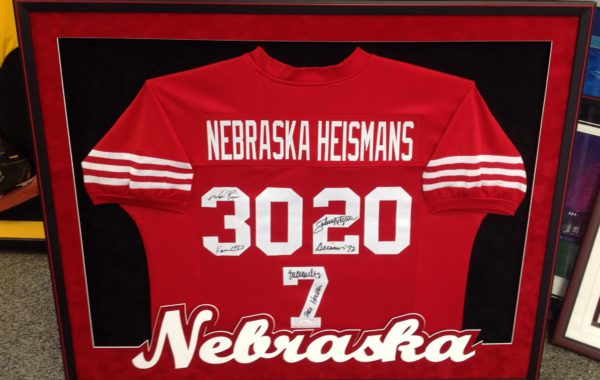 Nebraska Jersey Framed with our new Husker Mat