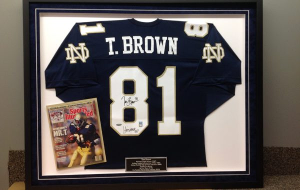 Jersey Framed with Magazine