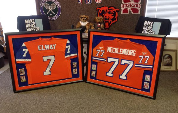 Denver Broncos Jerseys Framed