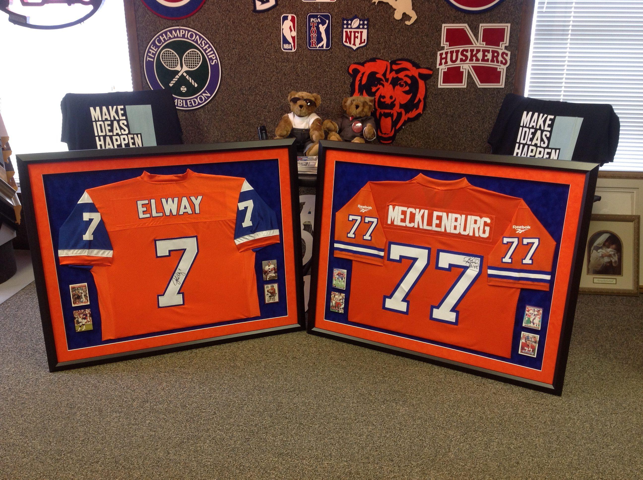 Denver Broncos Jerseys Framed