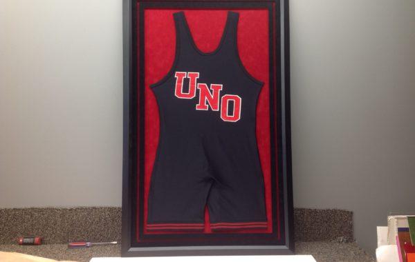 UNO Wrestling Jersey Framed