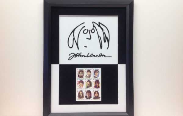 John Lennon Stamps and Logo