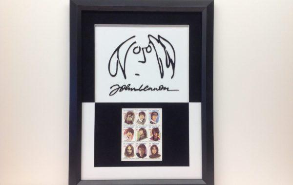 John Lennon Stamps and Logo