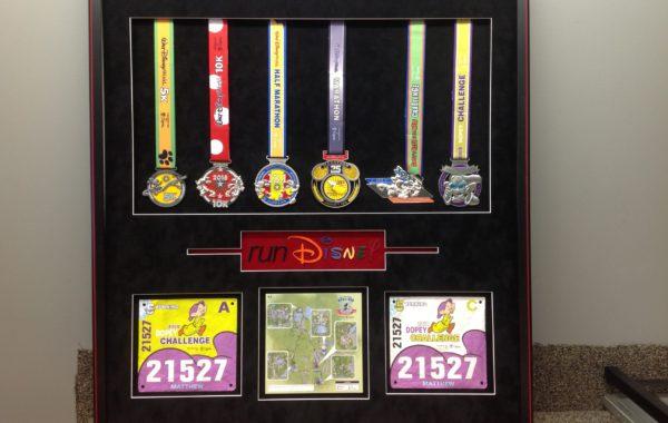 Running Medals Framed