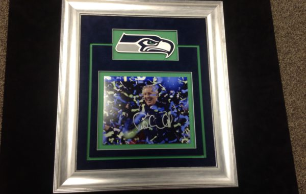 Super Bowl Photo & Logo Framed
