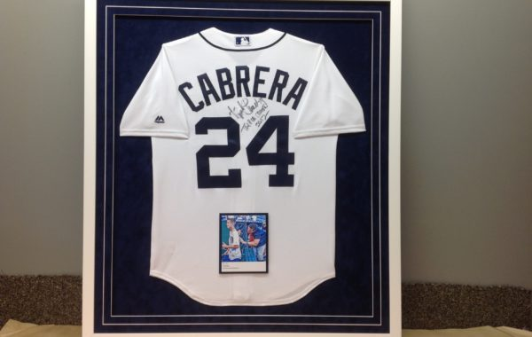 Signed Baseball Jersey with Photo
