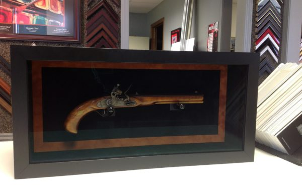 Old Revolver Framed in Shadow Box