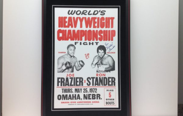 Ron Stander Signed Title Fight Poster
