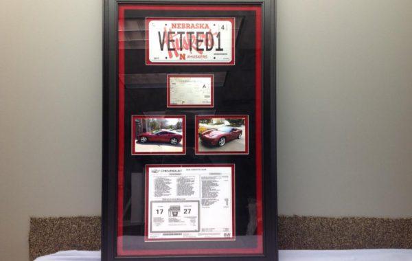 Corvette Collage including License Plate