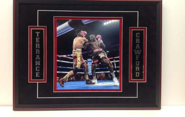 Boxing Photo with 2 Engraved Plates