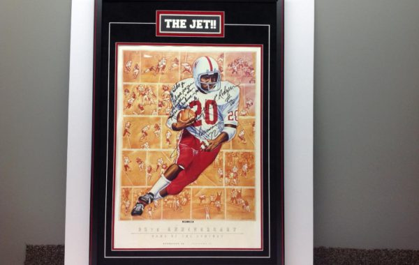 "Johnny the ""Jet"" – Framed Print with Engraved Plate"