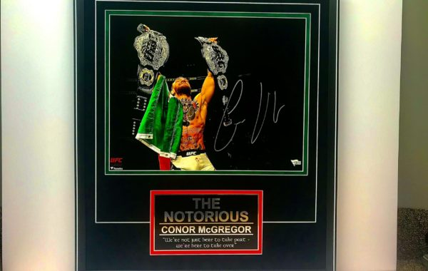 Conor McGregor Photo & Plate
