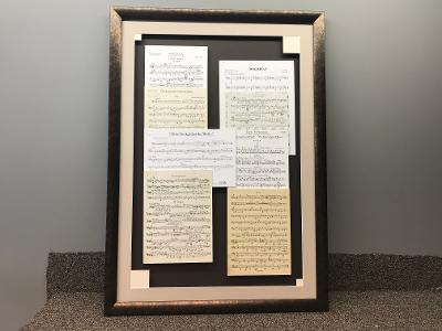 Music Sheets Framed