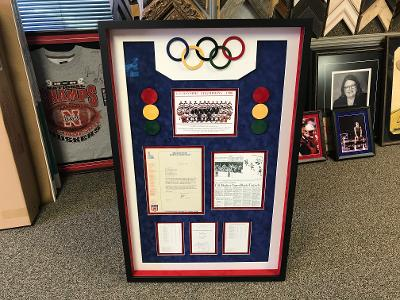 Hockey Article w/Custom Olympic Rings